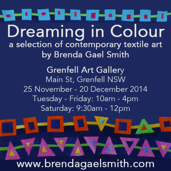 Dreaming in Colour Exhibition by Brenda Gael Smith