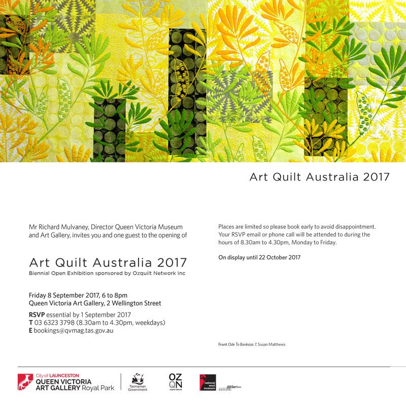 Art Quilt Australia 2017 Invitation