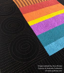 The Australian Quilt Exhibition - Origins (detail) by Anna Brown