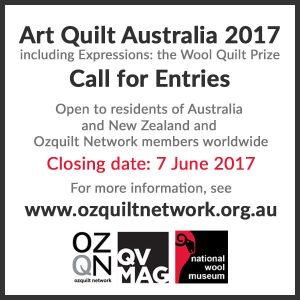 Call for Entries for Art Quilt Australia 2017