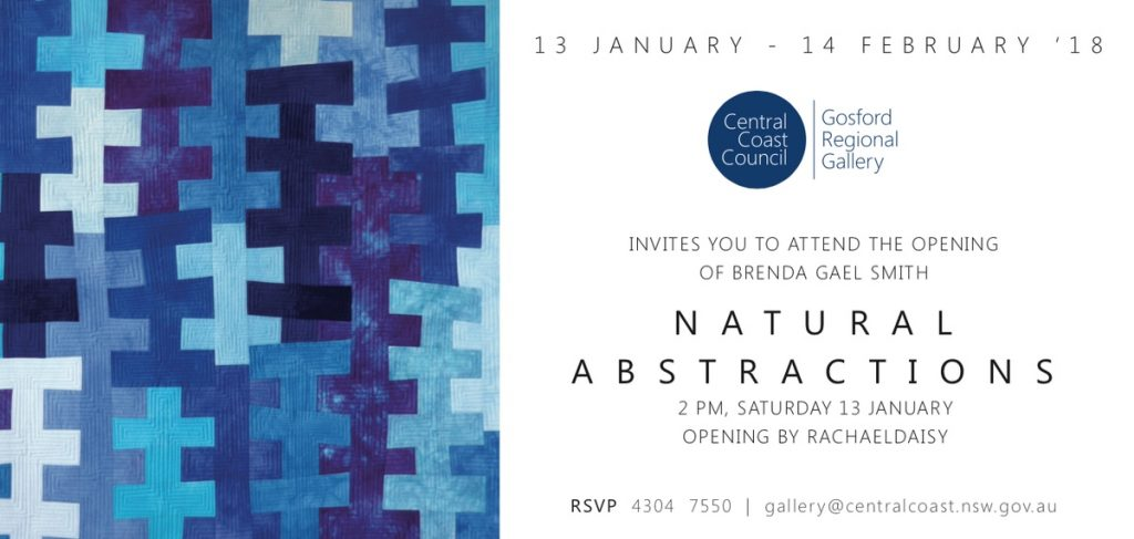 Invitation to Natural Abstractions exhibition Brenda Gael Smith