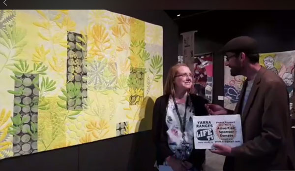 Yarra Ranges Life TV at Art Quilt Australia at Yarra Ranges Regional Museum