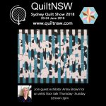 Anna Brown: Guest Exhibitor at the Sydney Quilt Show 2018