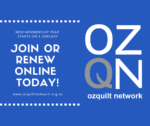 Join or renew your Ozquilt Network Membership