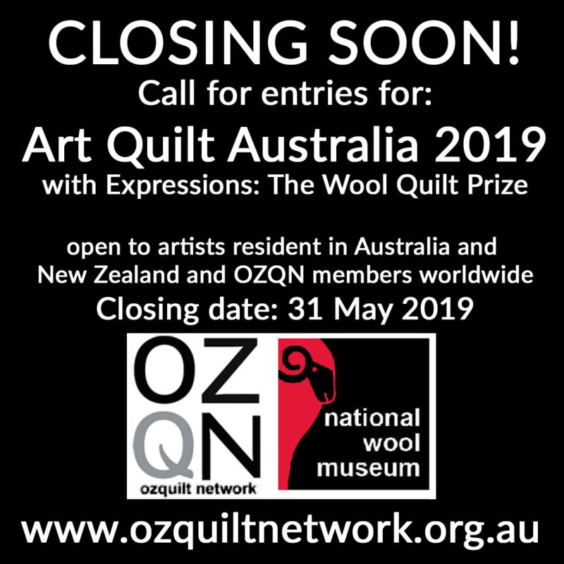 Closing soon: call for entries for Art Quilt Australia 2019
