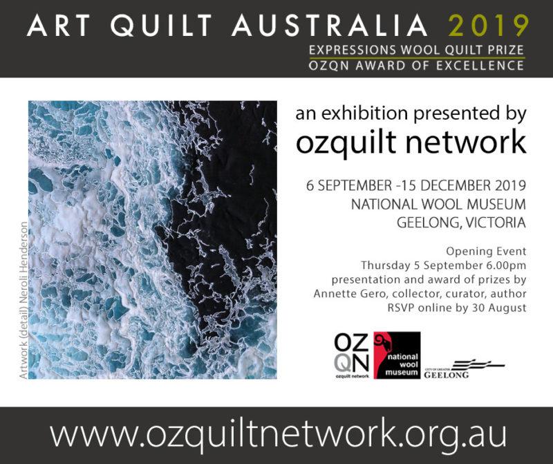 Whitewash by Neroli Henderson in Art Quilt Australia 2019