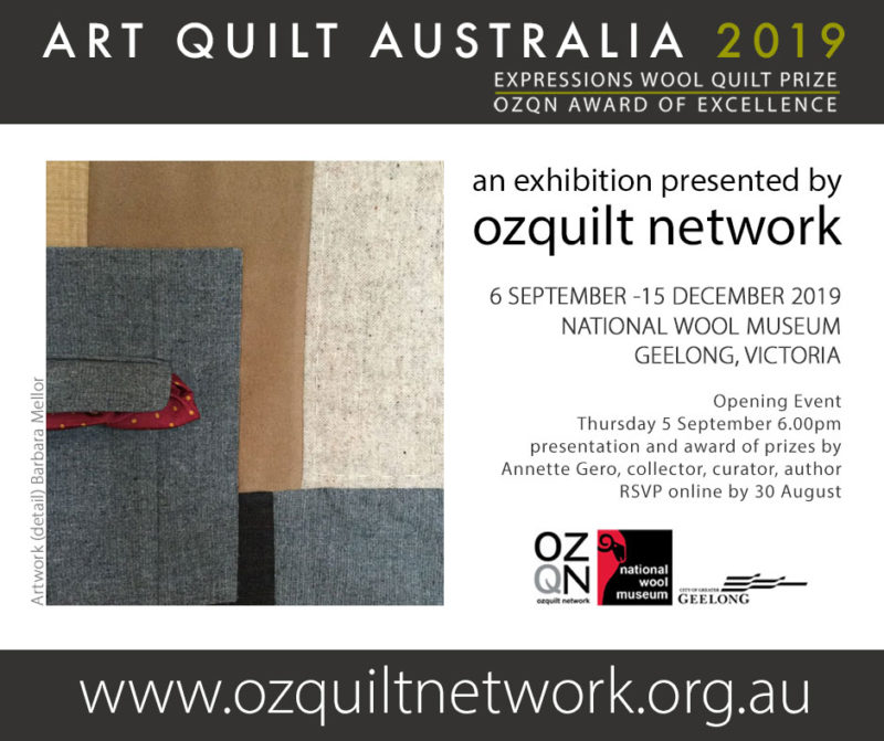 Art Quilt Australia 2019 - Artwork by Barbara Mellor