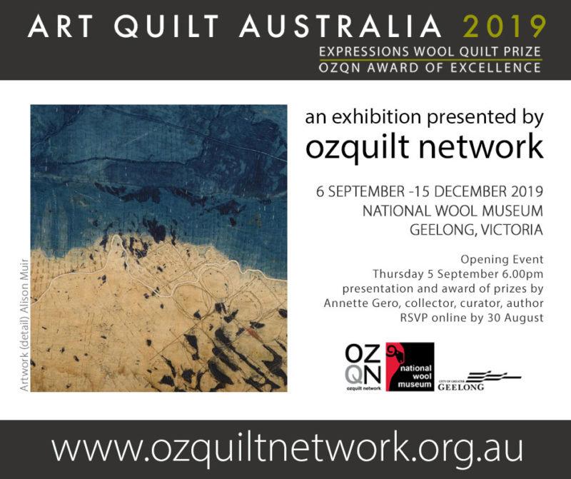 Art Quilt Australia 2019 artwork by Alison Muir