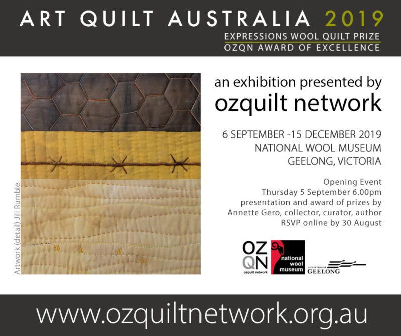 Art Quilt Australia 2019 - artwork by Jill Rumble