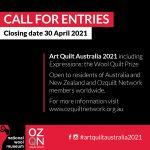 Art Quilt Australia 2021 Call for Entries